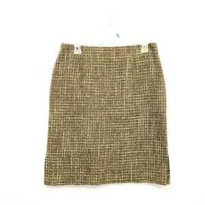 Vintage Wool 60s Green Skirt Excellent Condition
